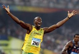 100 м световен рекордьор, Юсейн Болт снимка