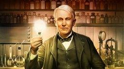 Американският изобретател Томас Едисон снимка