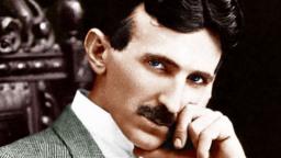 Луд учен Никола Тесла снимка